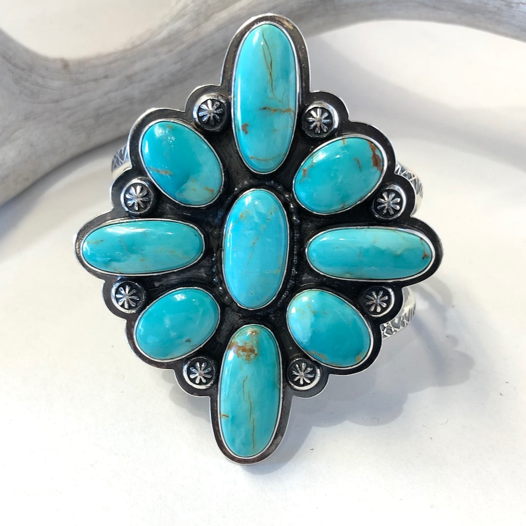 Kingman Turquoise Bracelet<br>By Everett & Mary Teller