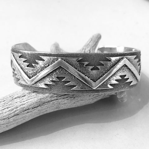 Silver Overlay Cuff<br>By Ray Scott