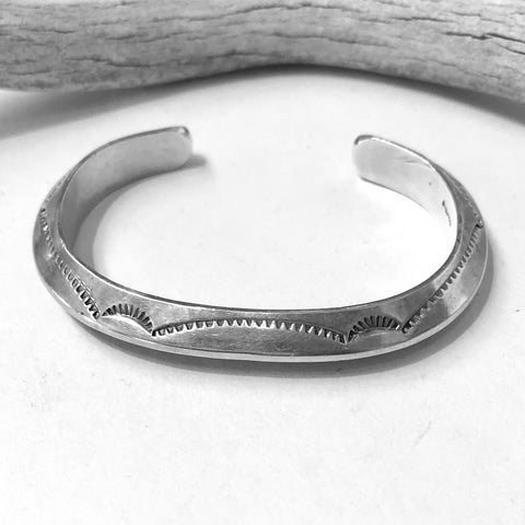 Stamped Carinated Bangle