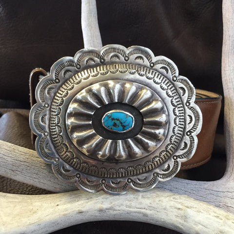 Concho Buckle With Stone