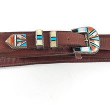 Load image into Gallery viewer, Vintage Zuni Ranger Buckle Set