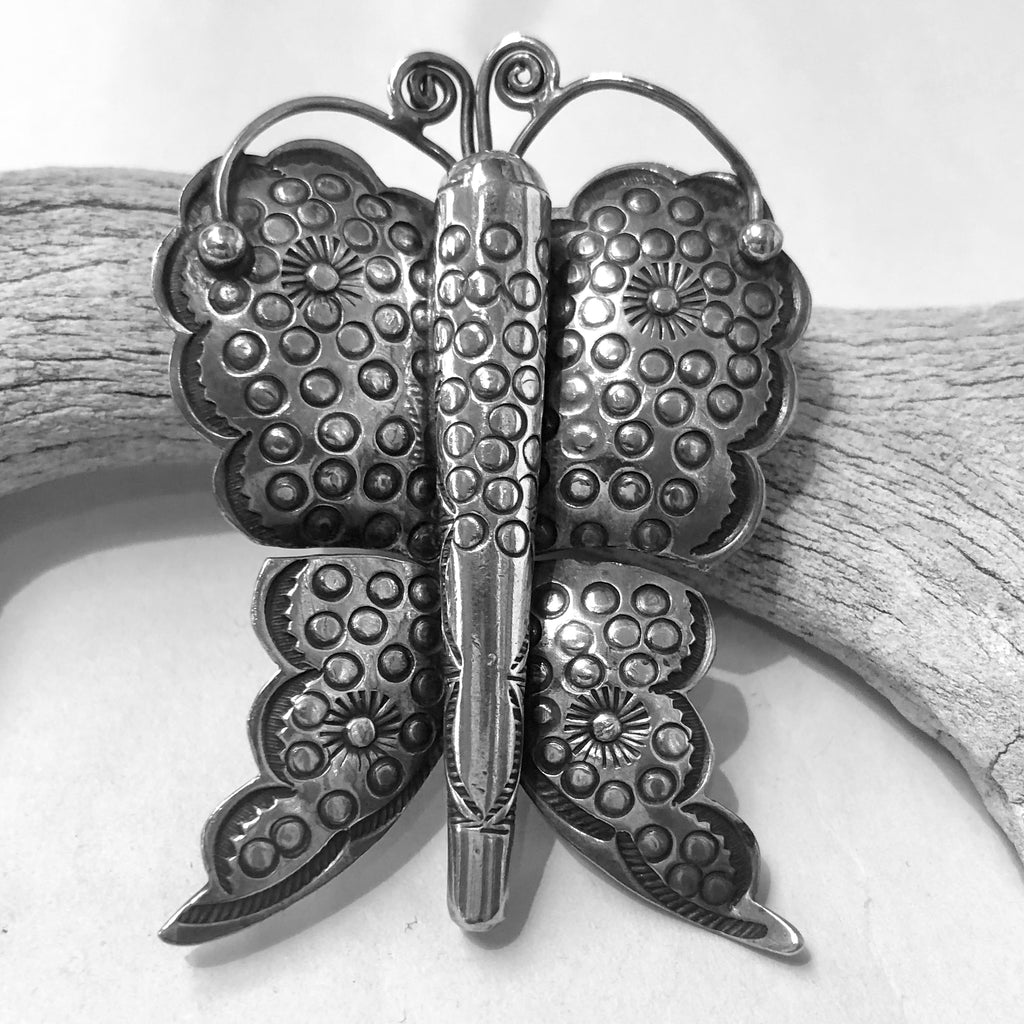 Small Vintage Navajo Butterfly Pin