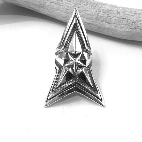 Extra Large Star In Star<br>By Cody Sanderson<br>Size: 6.5