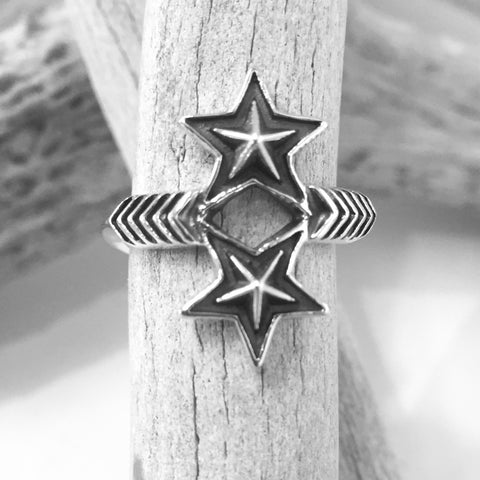 Double Arrow Double Star<br>By Cody Sanderson<br>Size: 7