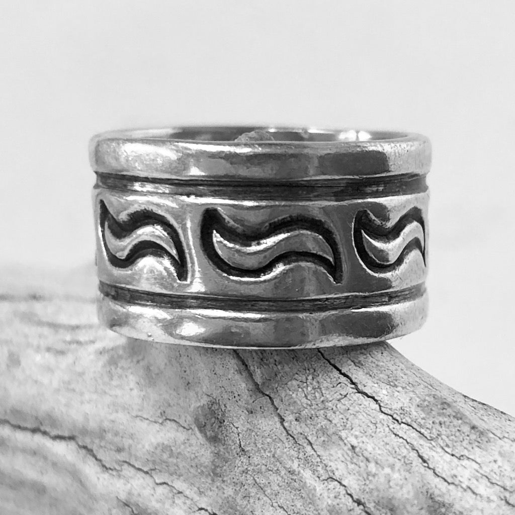 Stamped Band<br>By Darin Bill<br>Size: 6