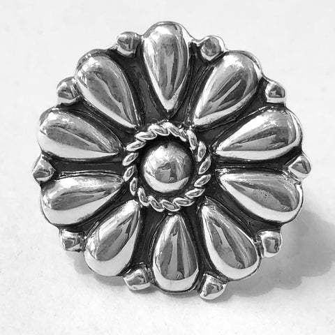 Silver Flower Cluster<br>By Melvin Francis<br>Size: 8