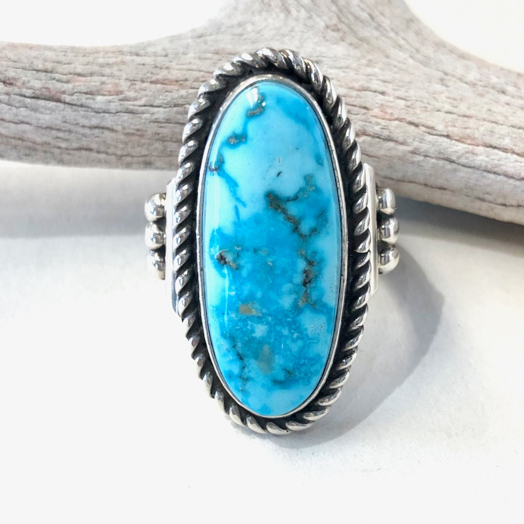 Kingman Turquoise<br>By Albert Lee<br>Size: 6