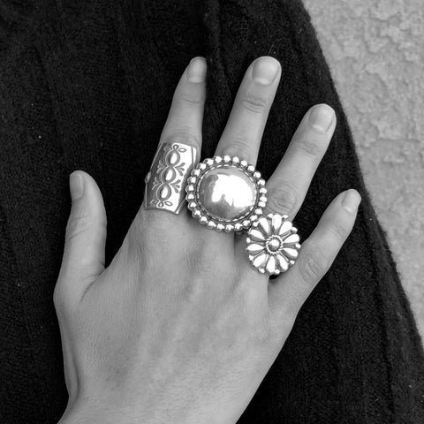 Large Domed Ring<br>By Melvin Francis<br>Size: 7