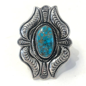 Red Mountain Turquoise<br>By Calvin Martinez<br>Size: 7