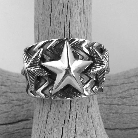 Wave Gear 3 Star Ring By Cody Sanderson   Size: 11