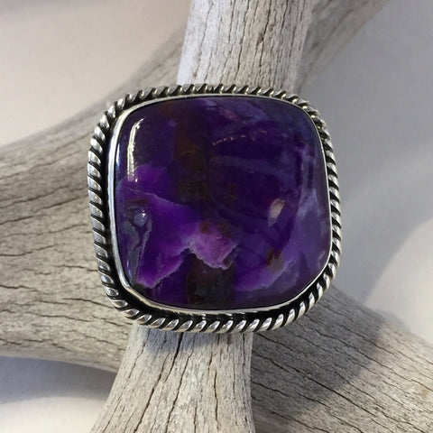 Superb Sugilite Ring By Albert Lee    Size: 7.5