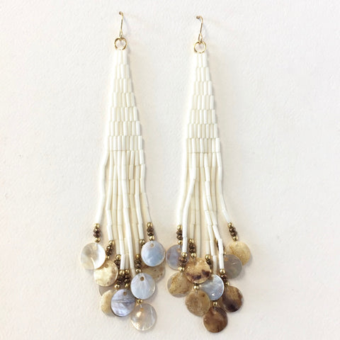 "5"" Long Beaded Earrings<br>By Molina Parker"