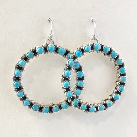 Turquoise Hoops<br>By Tonya June Rafael