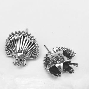 Chief Kill Hater Earrings<br>By Cody Sanderson