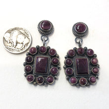 Load image into Gallery viewer, Purple Spiny Oyster Earrings<br>By Anthony Skeets
