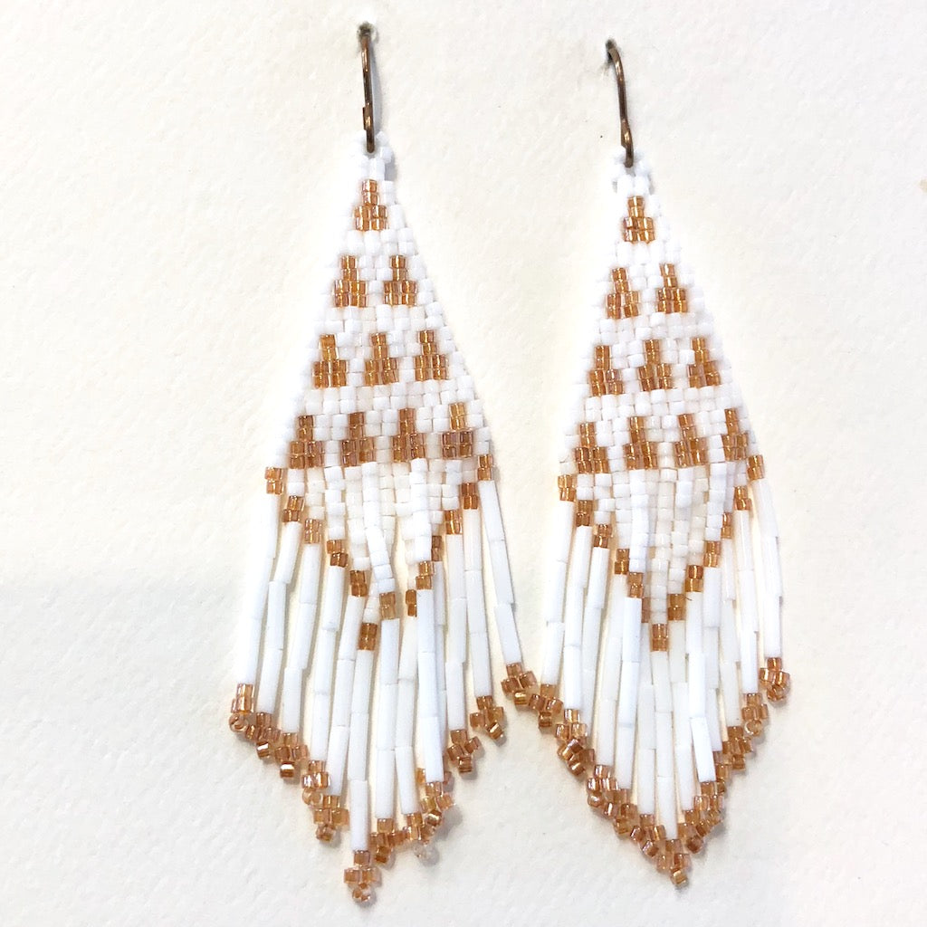 "3 1/4"" Beaded Earrings<br>By Molina Parker"