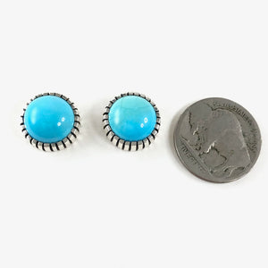 Large Sleeping Beauty Studs<br>By Craig Agoodie
