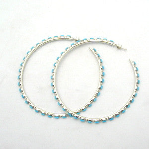 Large & Light Zuni Hoops By Alvin Hughte Lucky Pick!