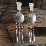 Sterling & Coral Dangles<br> By Lena Platero