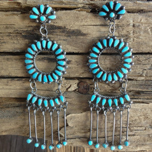 Zuni Chandelier Hoops By Milburn Dishta