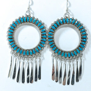 Large Zuni Hoops! By Milburn Dishta