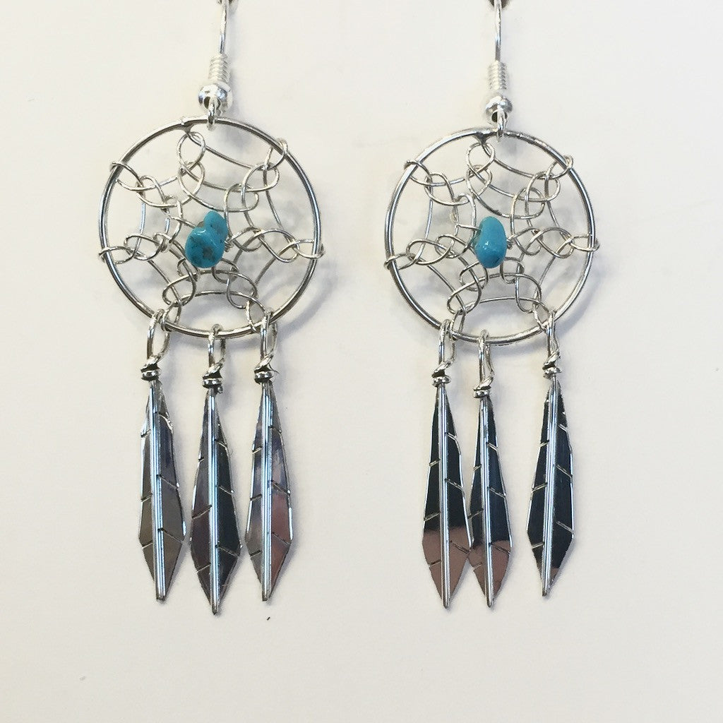 Small Dream Catcher Earrings By Lorenzo Arviso