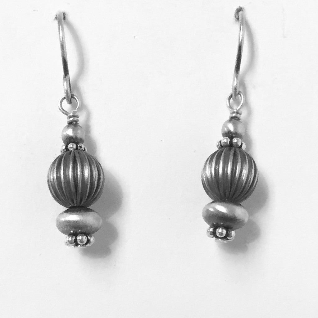 Tiny Fluted Sterling Drops
