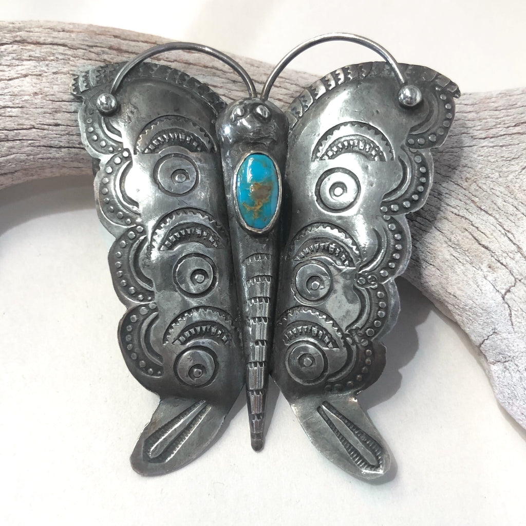 Blue Gem Butterfly Pin