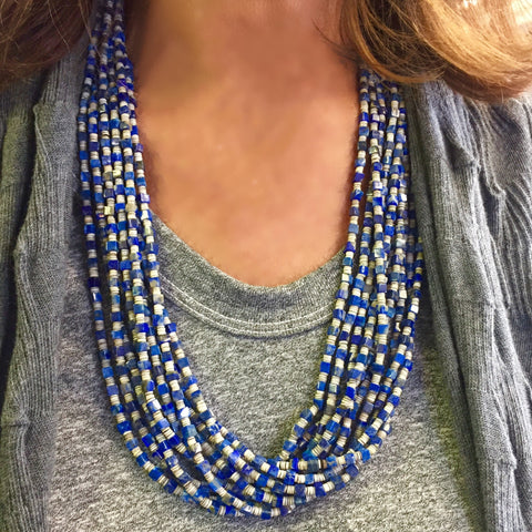 Denim Lapis and Shell<br>By Ramona Bird