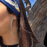 Large & Light Zuni Hoops<br>By Alvin Hughte