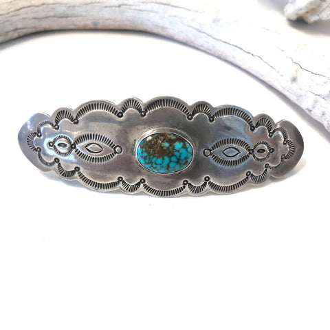 Large Barrette With Turquoise