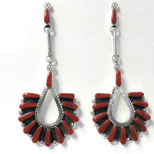 Large Coral Drops<br>By Carlene Hattie