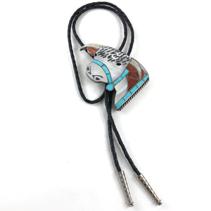 Large Bull Bolo Tie<br>Helen & Lincoln Zunie