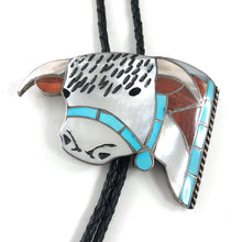 Load image into Gallery viewer, Large Bull Bolo Tie<br>Helen & Lincoln Zunie