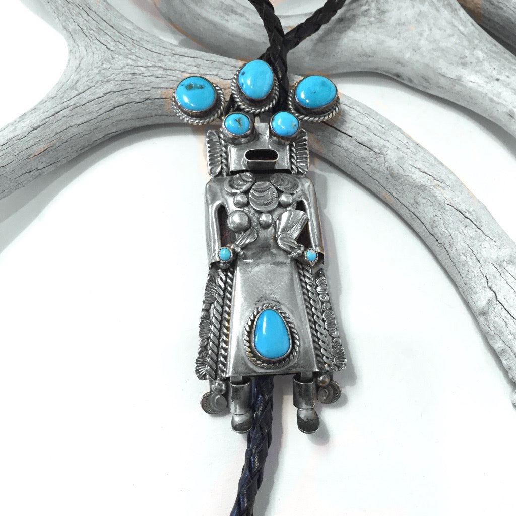 Large Yei Bolo Tie<br>By Toby Henderson