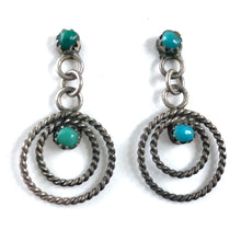 Load image into Gallery viewer, Tiny Vintage Sterling Twist Hoops