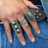 Tufa Cast Snake Ring By Lester James Size: 7 1/2