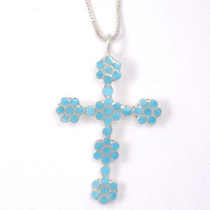 "Dishta Style Cross By Rupert Shetina 18"" Chain included"