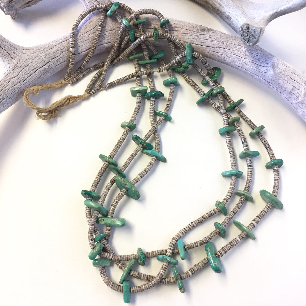 3 Strand Natural Stone Necklace