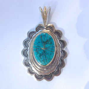 14kt Gold & Sterling Pendant By Naveek