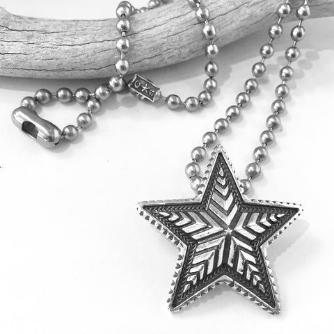 Large Depp Star Pendant<br>By Cody Sanderson