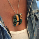 Abstract Inlay Pendant