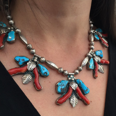 Coral & Turquoise Elegance  By Lena Platero
