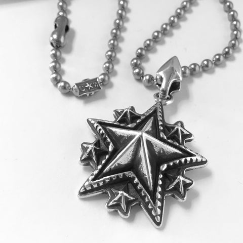 Large Spike Starry Pendant With Arrow Bale<br>By Cody Sanderson