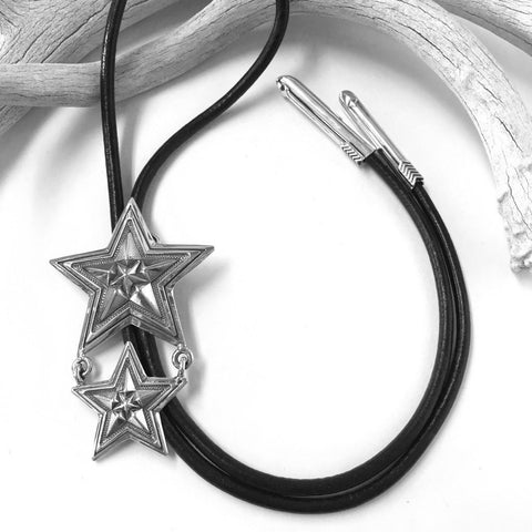 Large Star In Star Bolo Tie<br>By Cody Sanderson