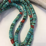 Coral & Turquoise With Cotton Wrap