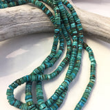 Three Strand Vintage Turquoise Necklace