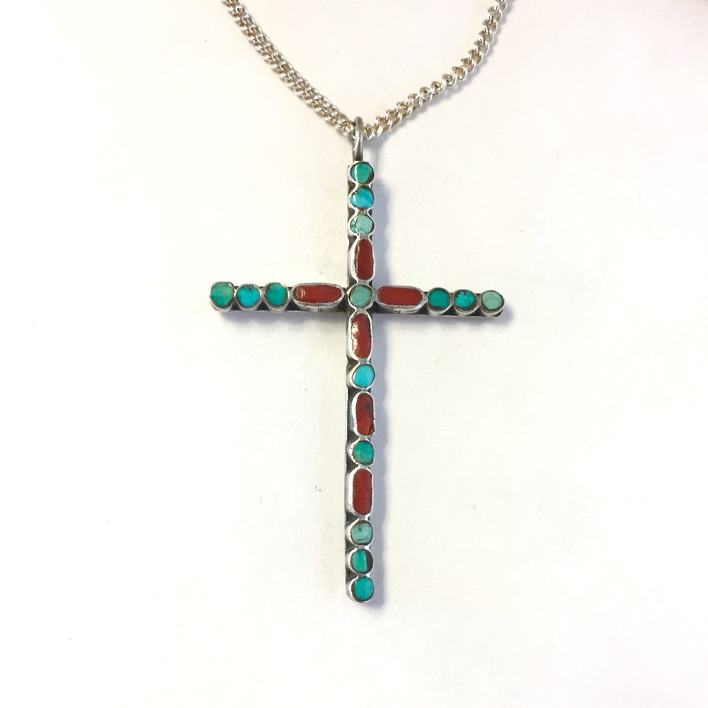 Flat Inlay Vintage Cross