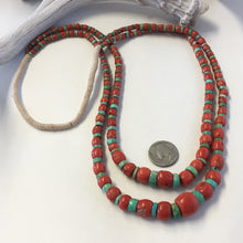 Load image into Gallery viewer, Coral & Turquoise Double Strand