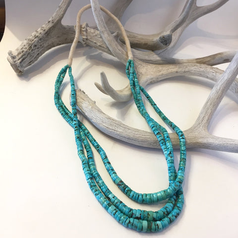 Triple Strand Natural Turquoise